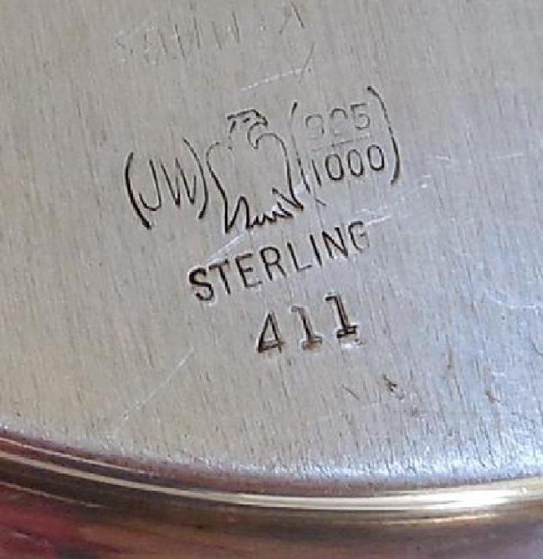Set of 2 Vintage Sterling Silver Serving Plates - 7
