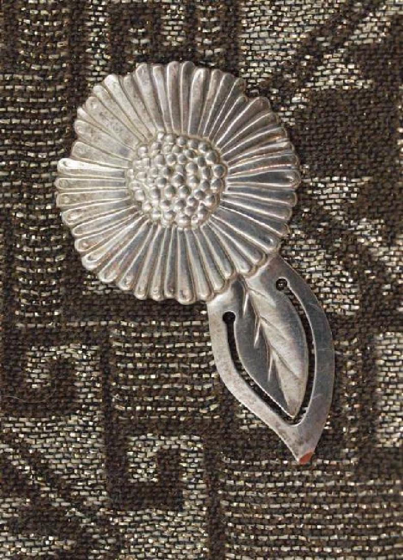 Vintage 800 Silver Figural Sunflower Paper Clip
