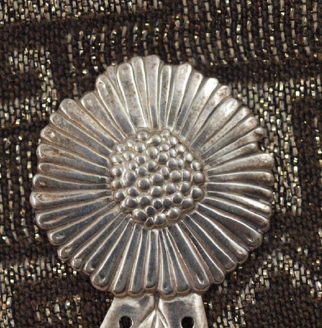 Vintage 800 Silver Figural Sunflower Paper Clip - 2