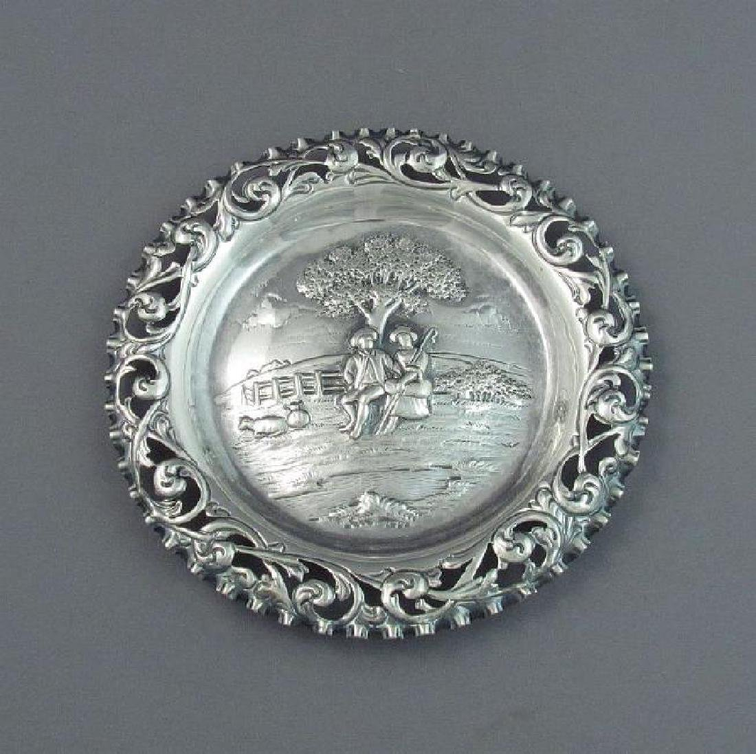 Antique English George III Sterling Silver Dish, 1801