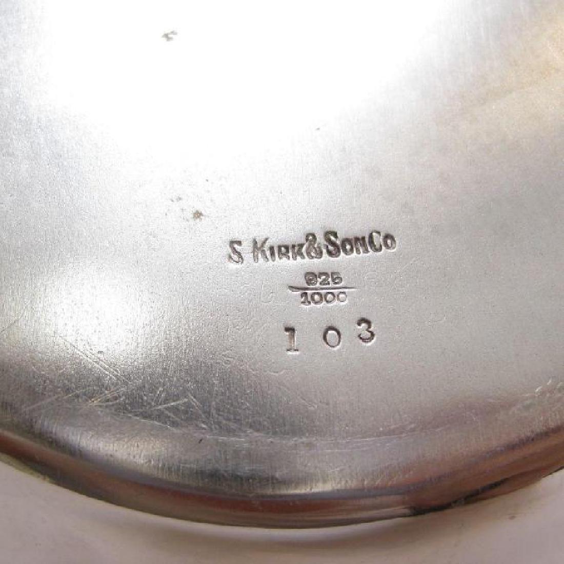 Antique Kirk & Son Sterling Silver Floral Repousse Bowl - 2