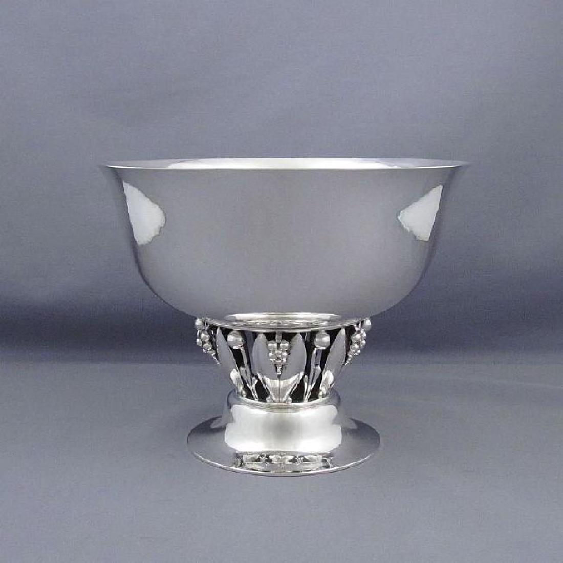 Vintage Georg Jensen Sterling Silver Pedestal Bowl