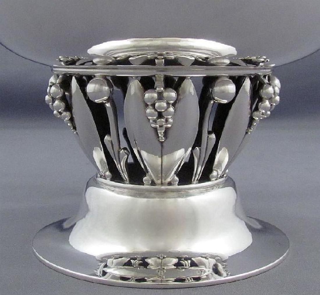 Vintage Georg Jensen Sterling Silver Pedestal Bowl - 2
