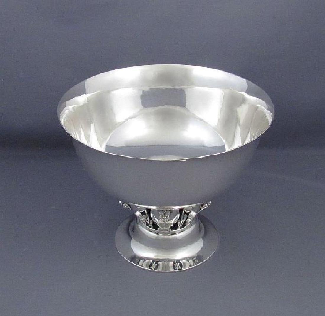 Vintage Georg Jensen Sterling Silver Pedestal Bowl - 4