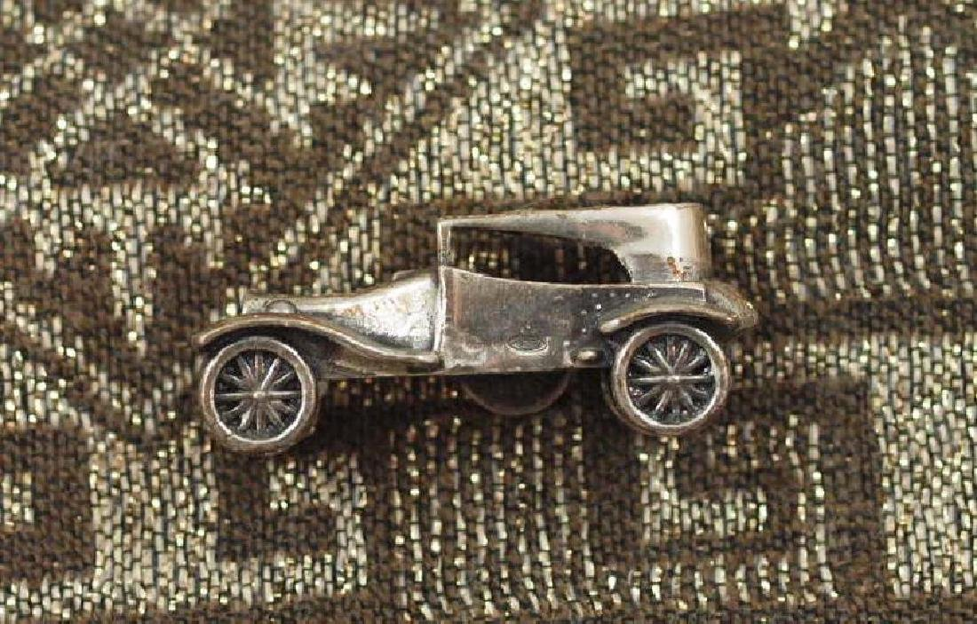 Vintage 800 Silver Miniature Labourdette Car - 2