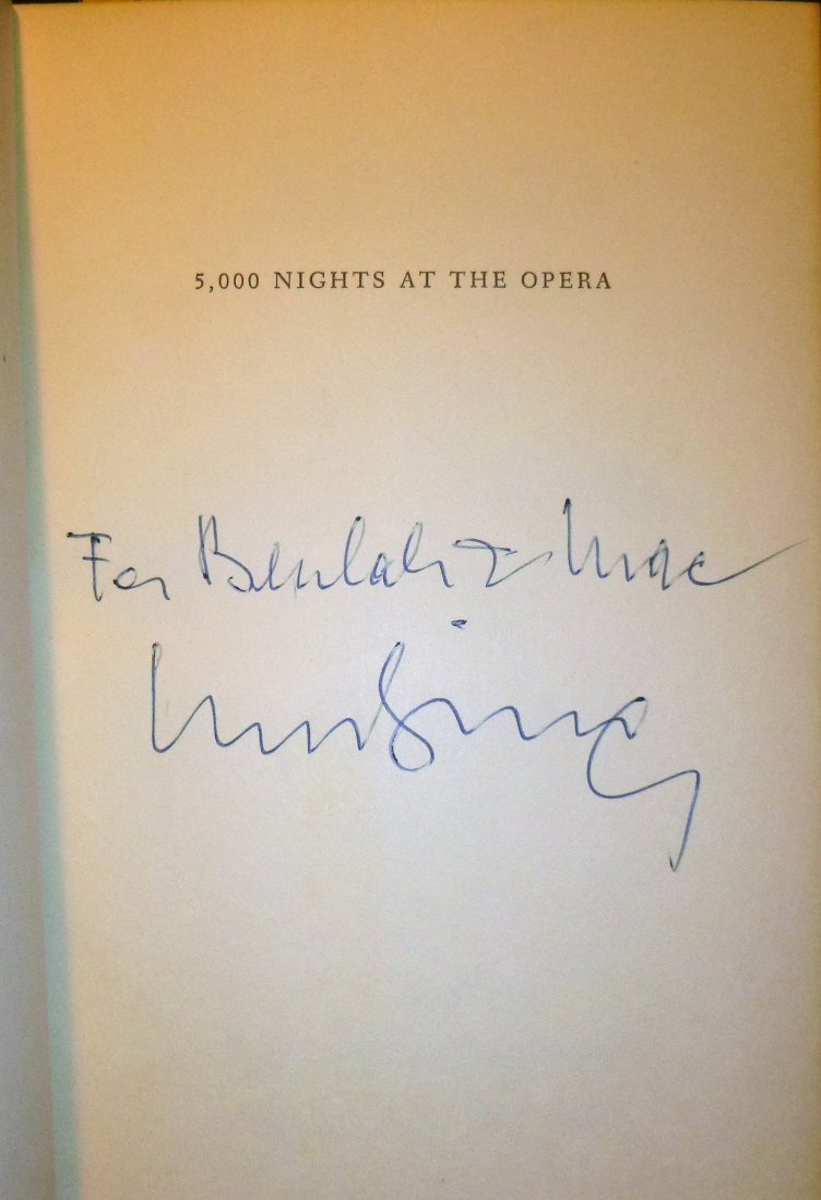 5000 Nights at the Opera - Inscribed  by Rudolf Bing