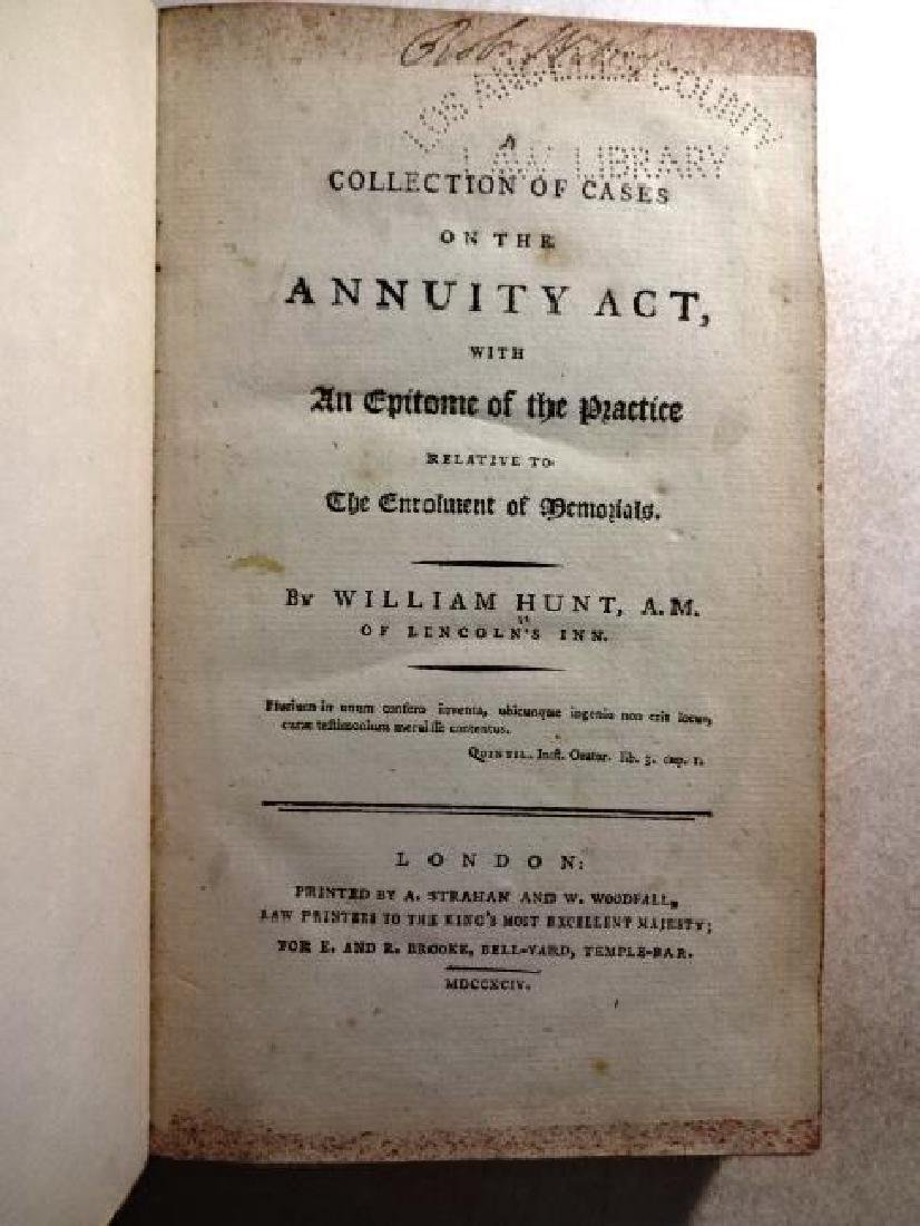 1794 Hunt Collection of Cases on the Annuity Act
