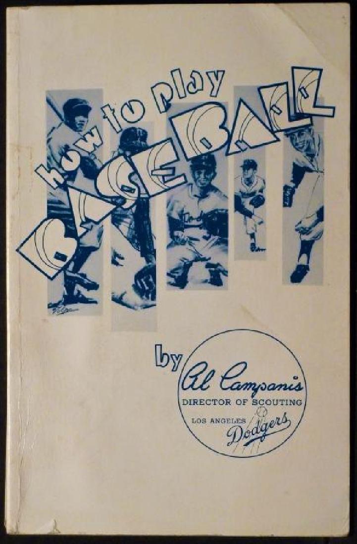 How To Play Baseball Inscribed Al Campanis LA Dodgers