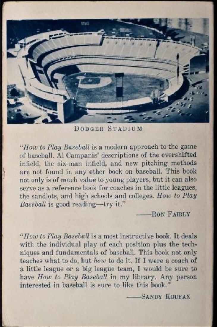 How To Play Baseball Inscribed Al Campanis LA Dodgers - 2