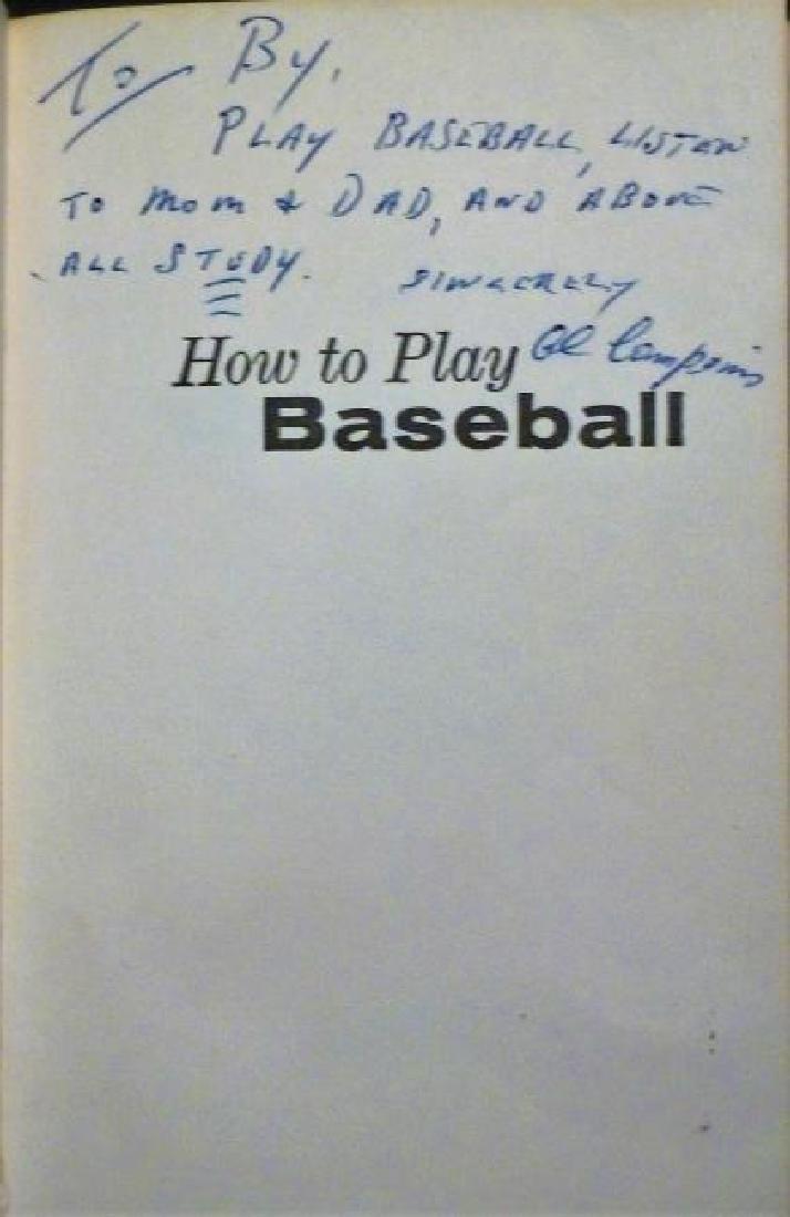 How To Play Baseball Inscribed Al Campanis LA Dodgers - 3