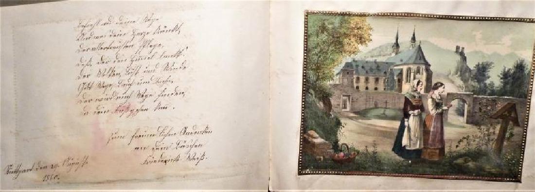 German Friendship Book - 1856-1860 Beautiful Penmanship - 2