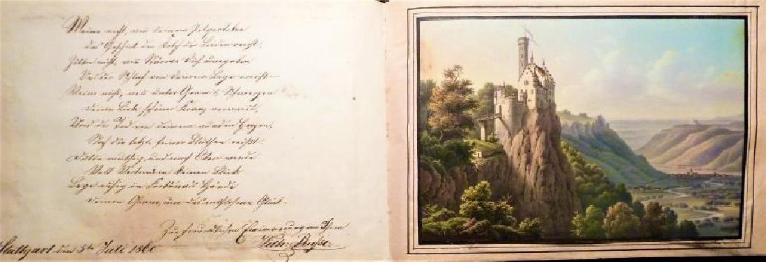 German Friendship Book - 1856-1860 Beautiful Penmanship - 3