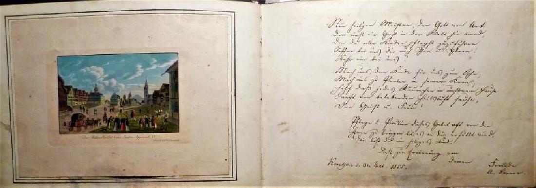 German Friendship Book - 1856-1860 Beautiful Penmanship - 4