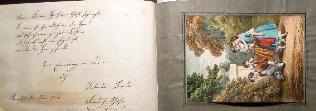 German Friendship Book - 1856-1860 Beautiful Penmanship - 5