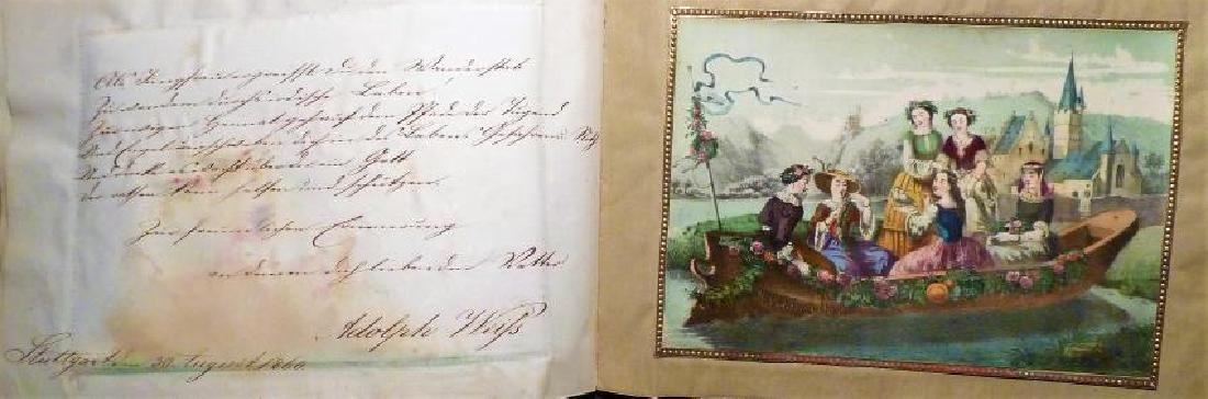 German Friendship Book - 1856-1860 Beautiful Penmanship - 6