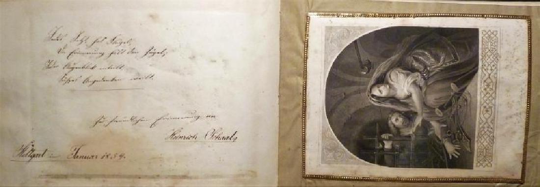 German Friendship Book - 1856-1860 Beautiful Penmanship - 7