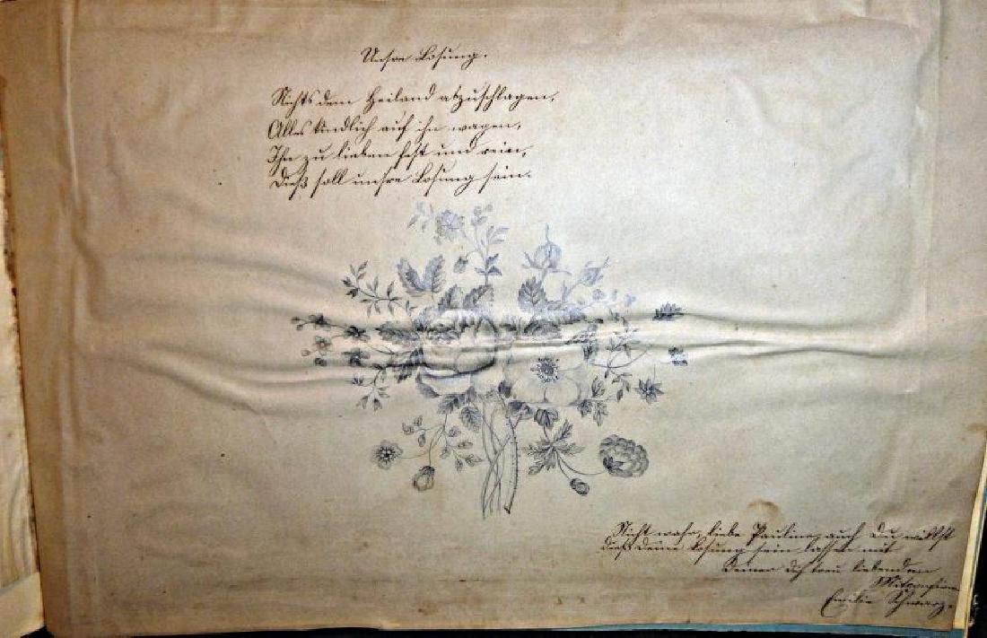German Friendship Book - 1856-1860 Beautiful Penmanship - 8