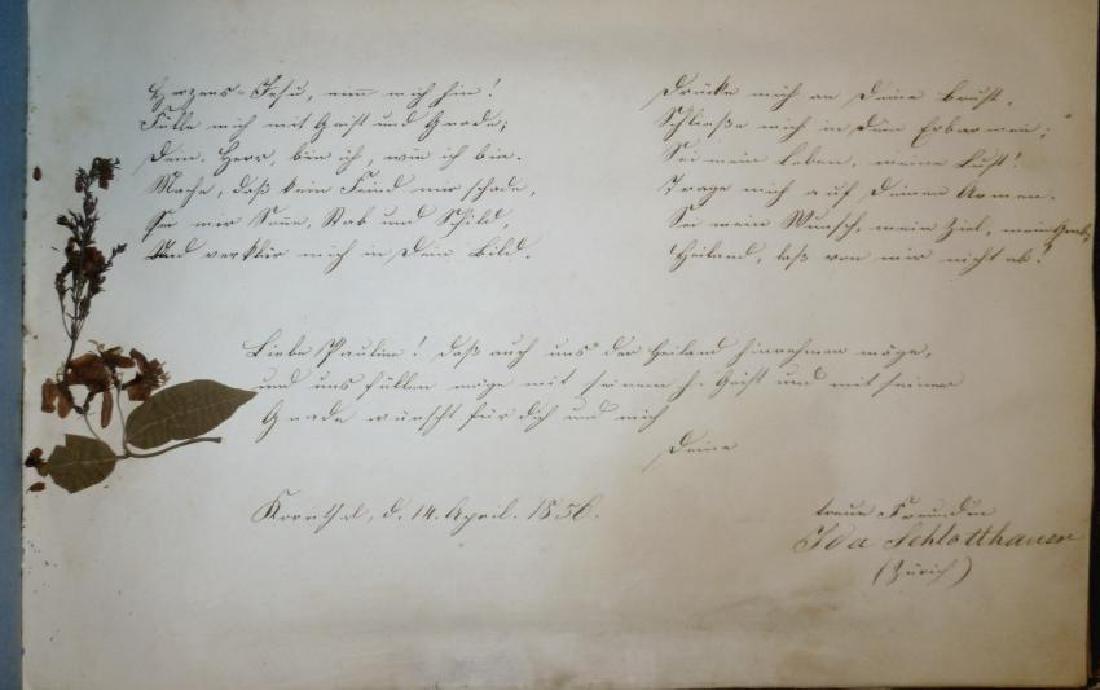 German Friendship Book - 1856-1860 Beautiful Penmanship - 9