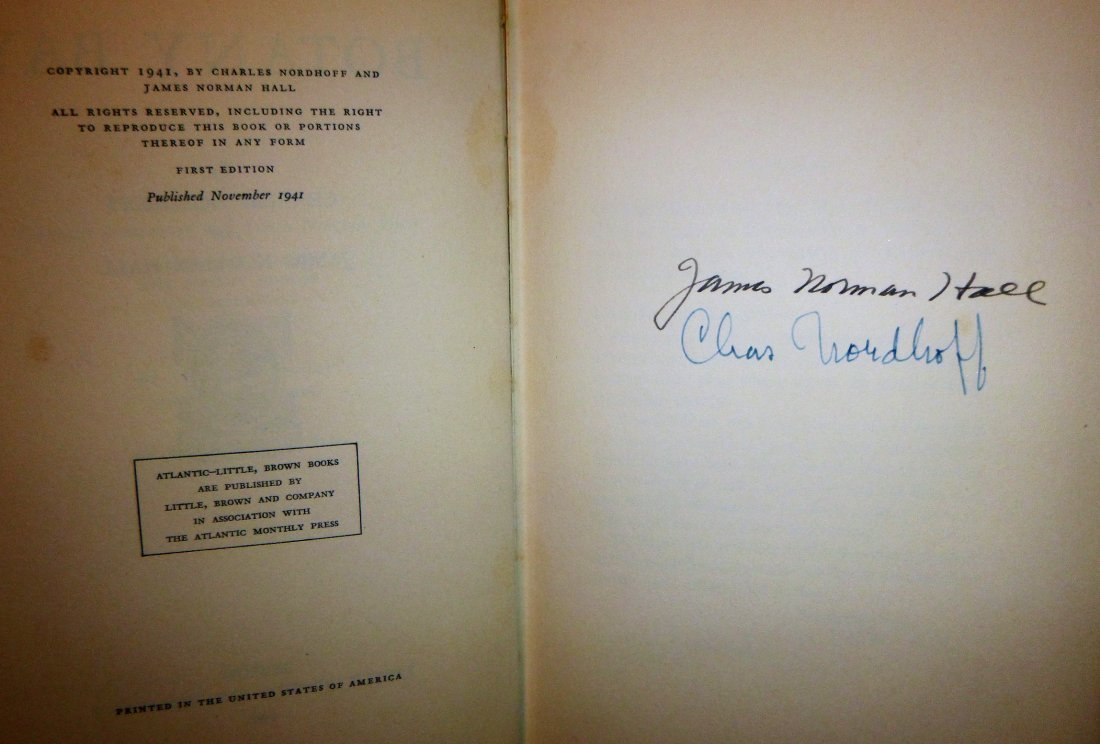 Botany Bay First Edition Signed by Nordhoff & Hall - 3