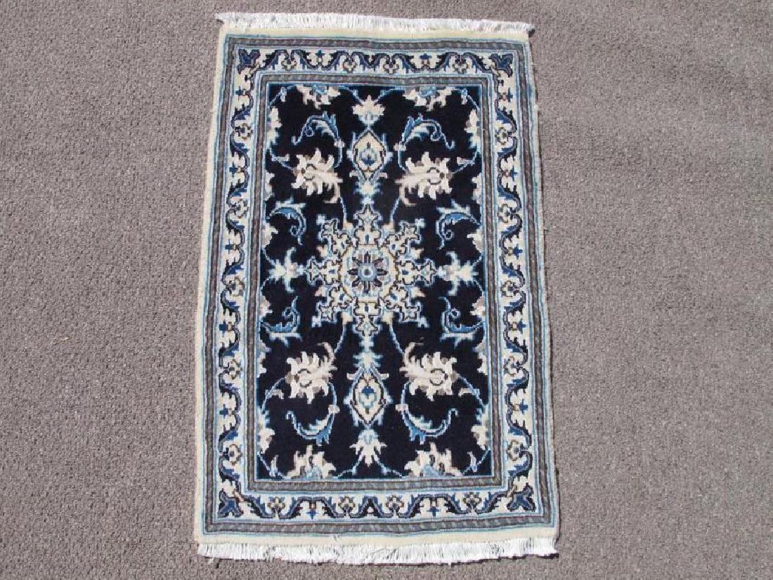 Authentic Wool Silk Persian Nain Rug 2x3