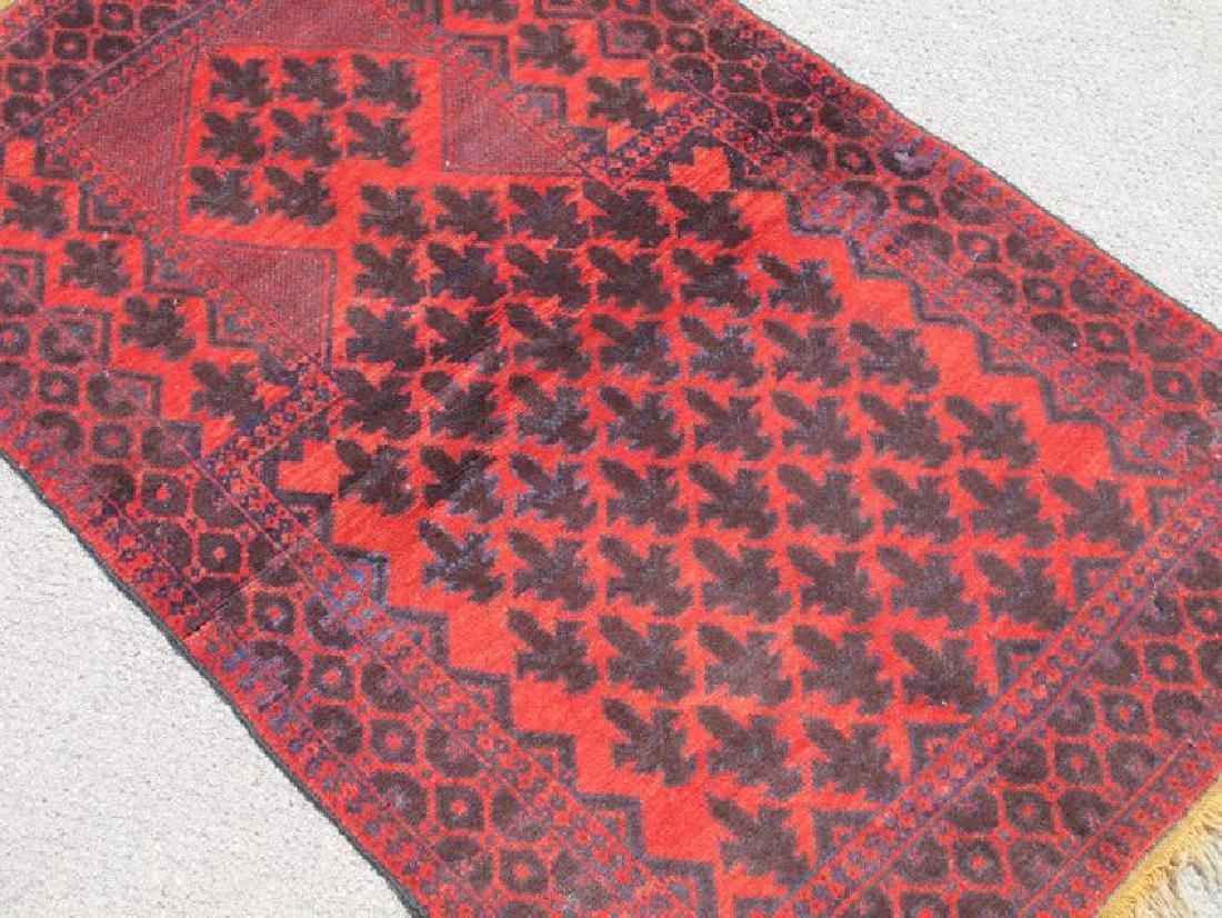 Semi Antique Wool on Wool Persian Balooch Rug 5x3 - 2