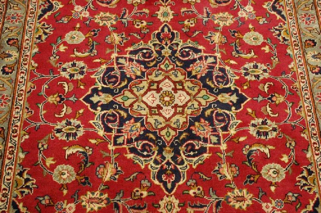 Persian Kashan Rug 3.7x6.9 - 9