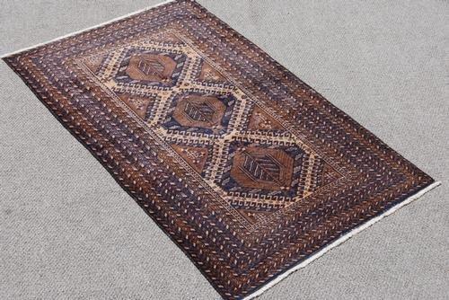 Hand Woven Persian Balooch Rug 3.7x6.2 - 2