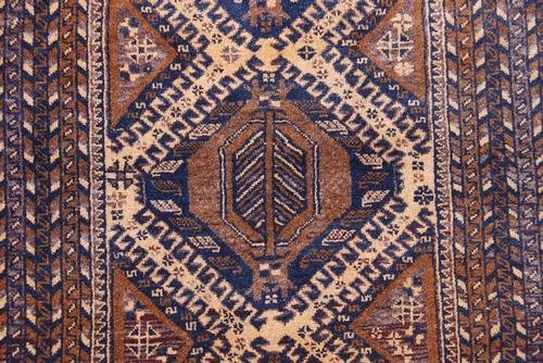 Hand Woven Persian Balooch Rug 3.7x6.2 - 3