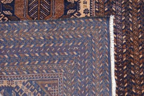 Hand Woven Persian Balooch Rug 3.7x6.2 - 4