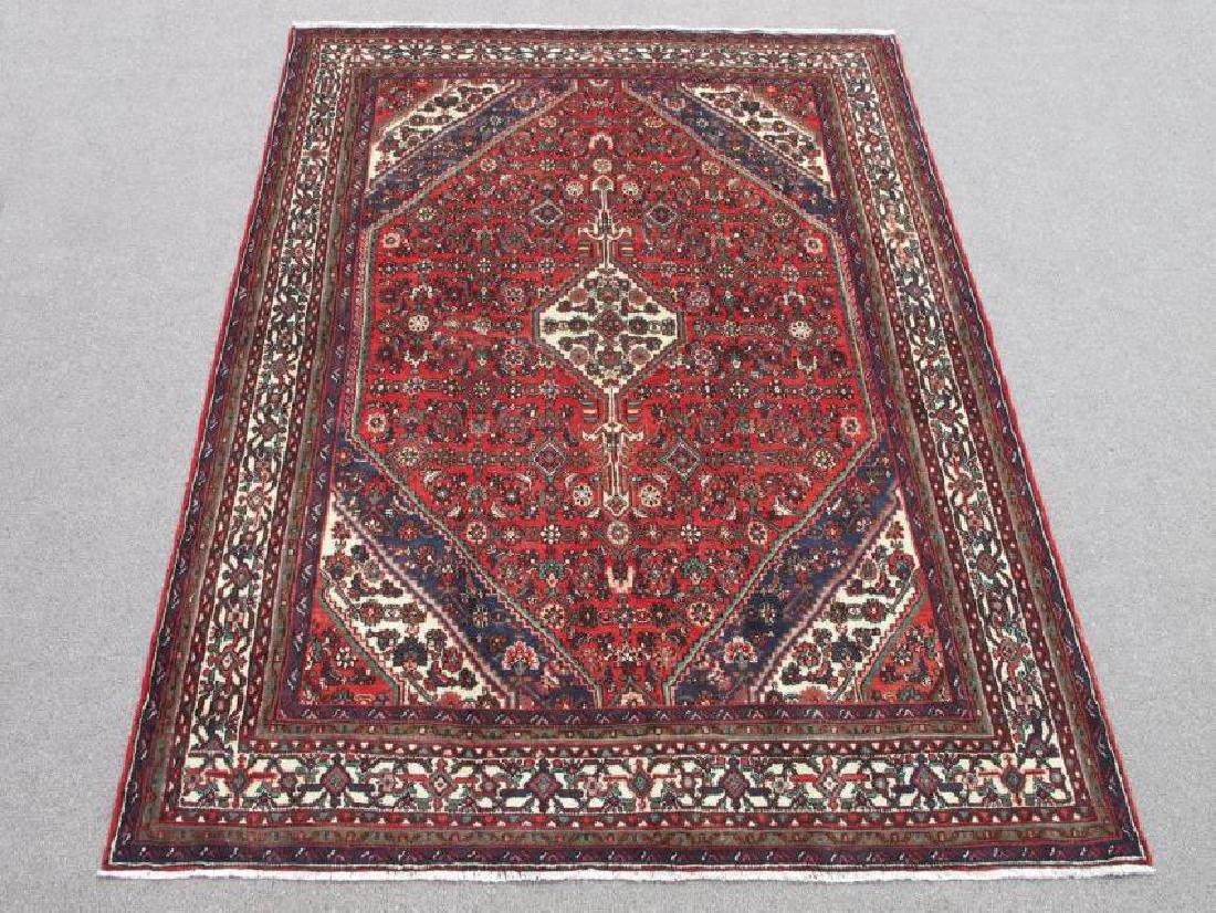 Handmade Semi Antique Persian Hosseinabad Rug 10.3x7.1