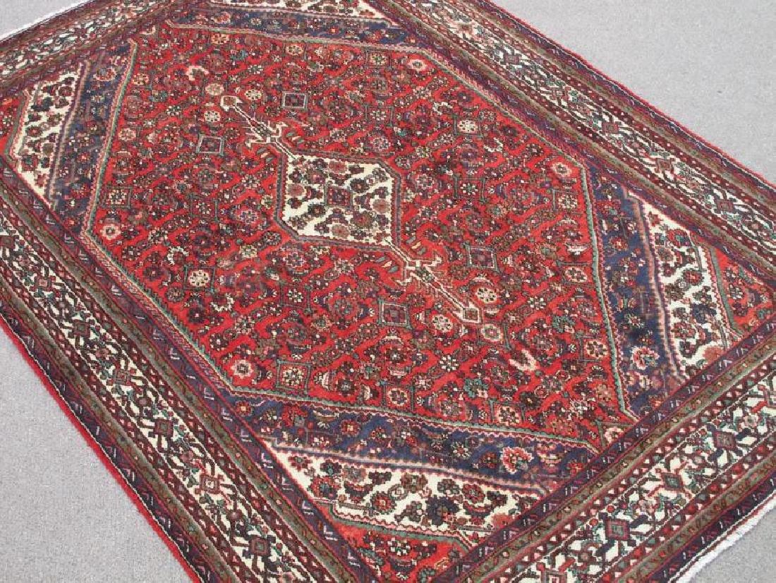 Handmade Semi Antique Persian Hosseinabad Rug 10.3x7.1 - 2
