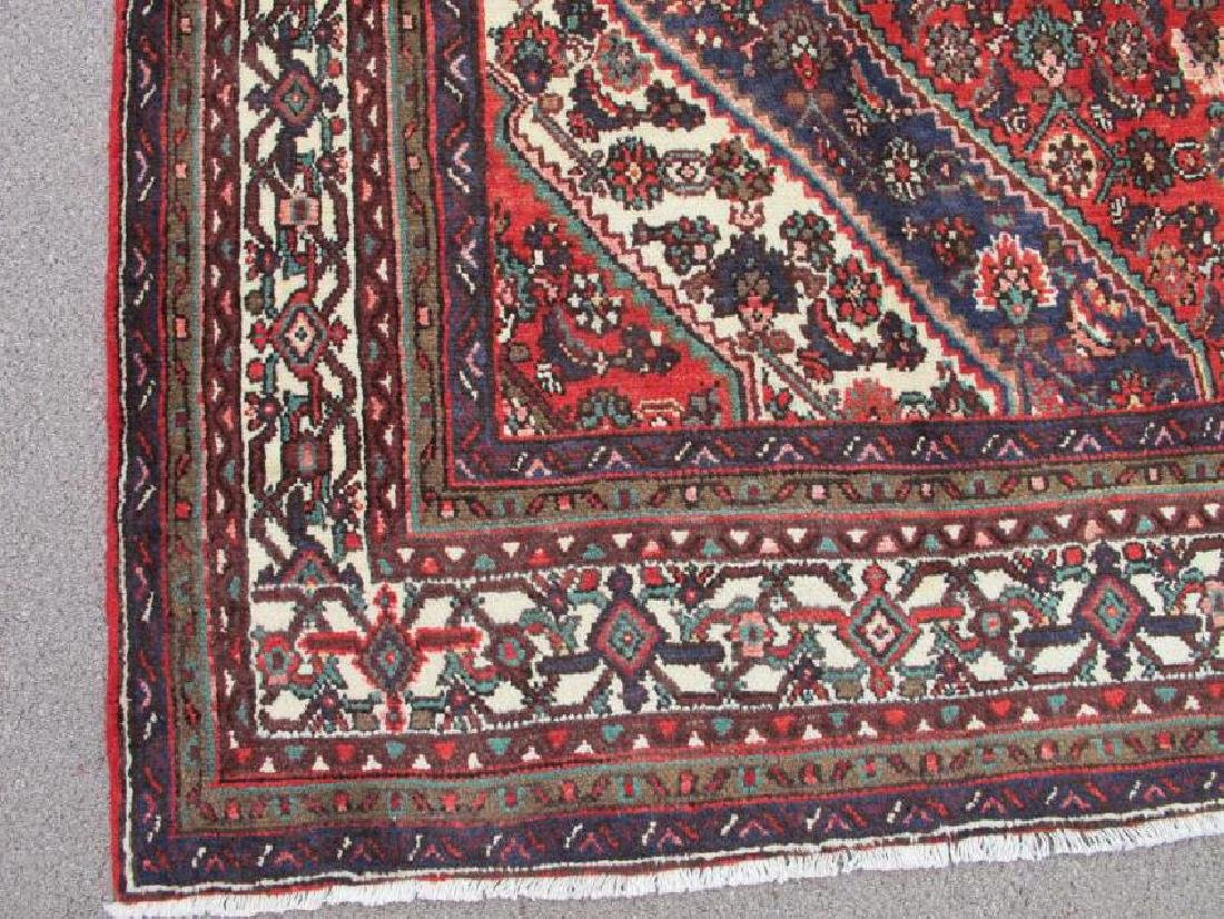 Handmade Semi Antique Persian Hosseinabad Rug 10.3x7.1 - 3