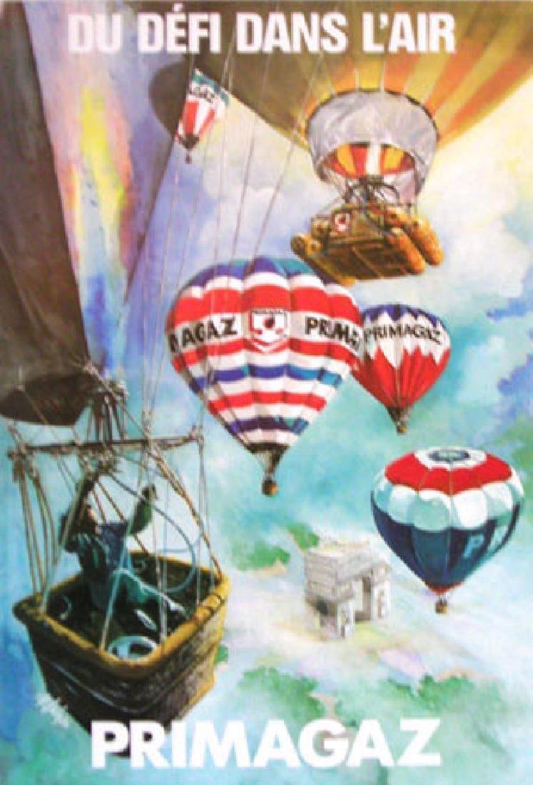 Du Defi Dans L'air Original Vintage Hot Air Balloon