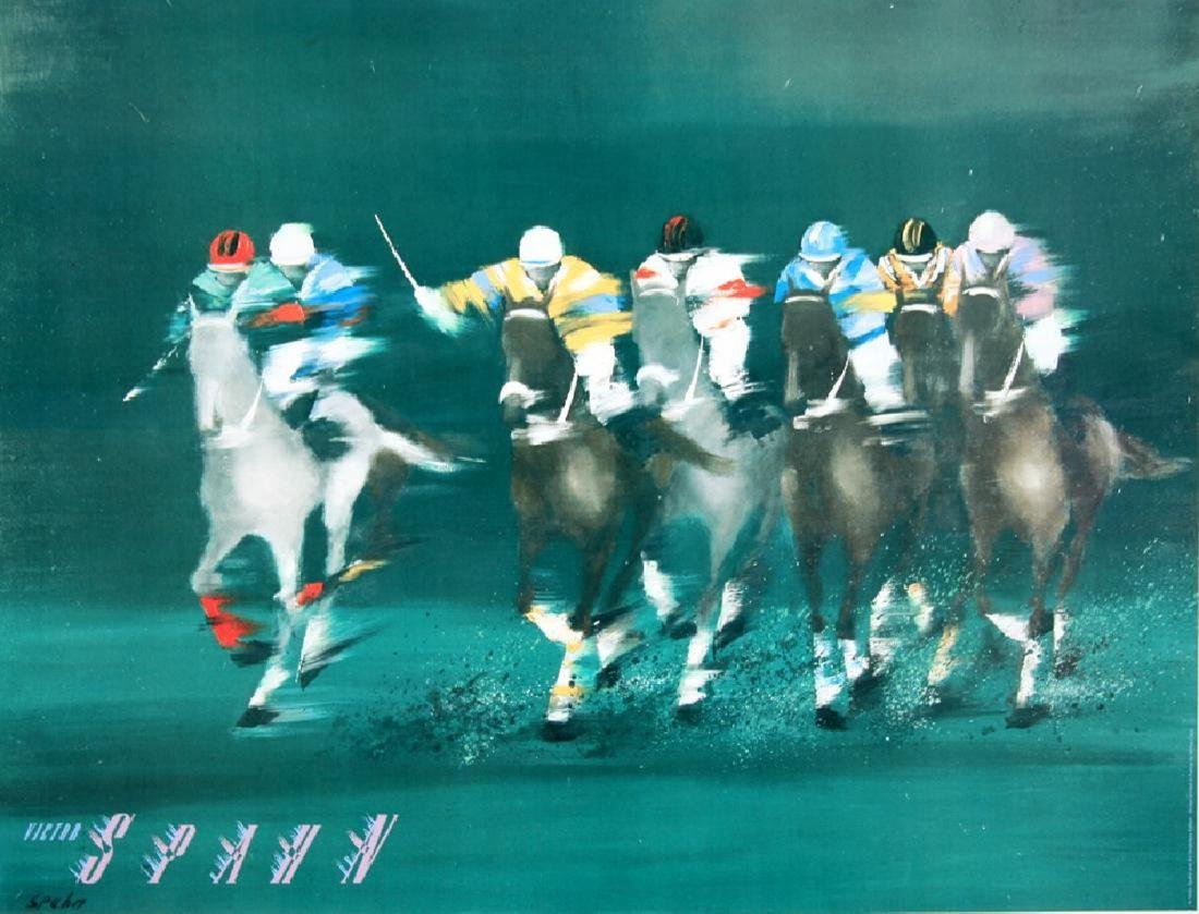 Original Vintage Polo Poster by Victor Spahn