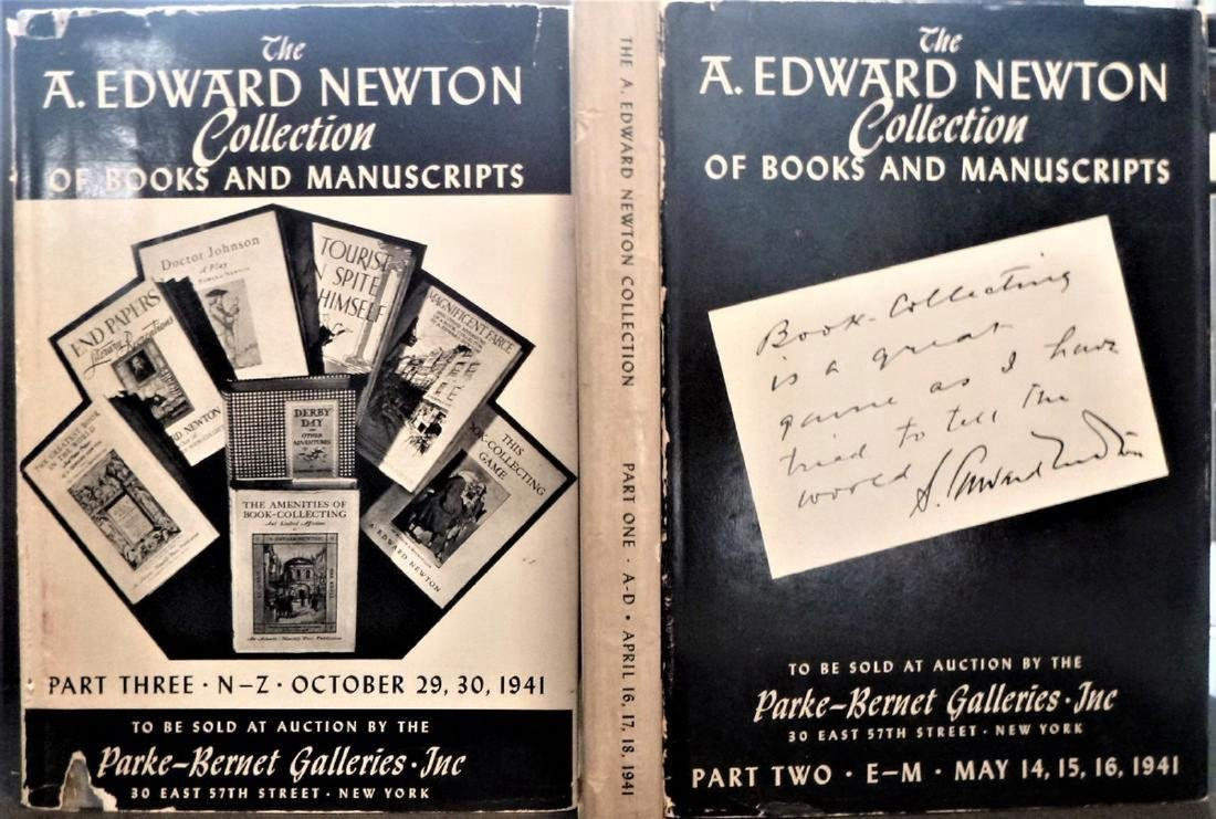 Edward Newton Collection Drawings Letters Manuscripts