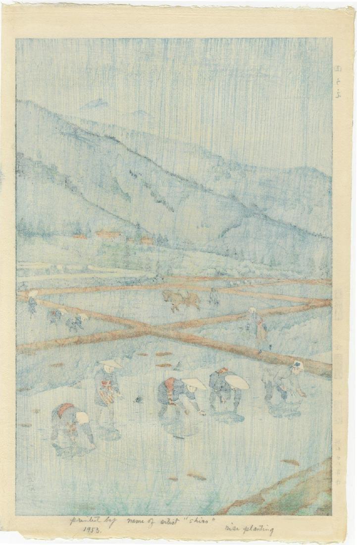 Kasamatsu Shiro First Edition Woodblock Rice Planting - 2
