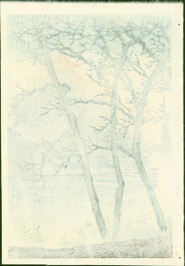 Kawase Hasui First Edition Woodblock Okayama Castle - 4
