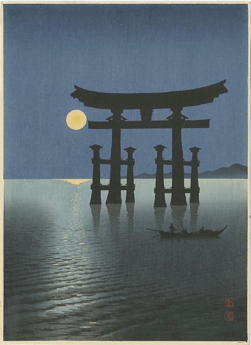 Koho Shoda Woodblock Floating Shrine Gate at Miyajima