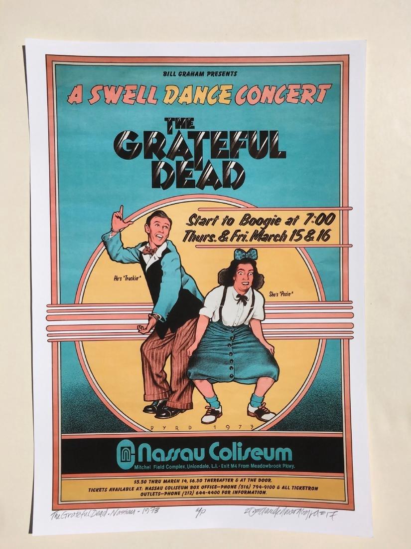 DAVID BYRD - Grateful Dead Swell Dance Poster