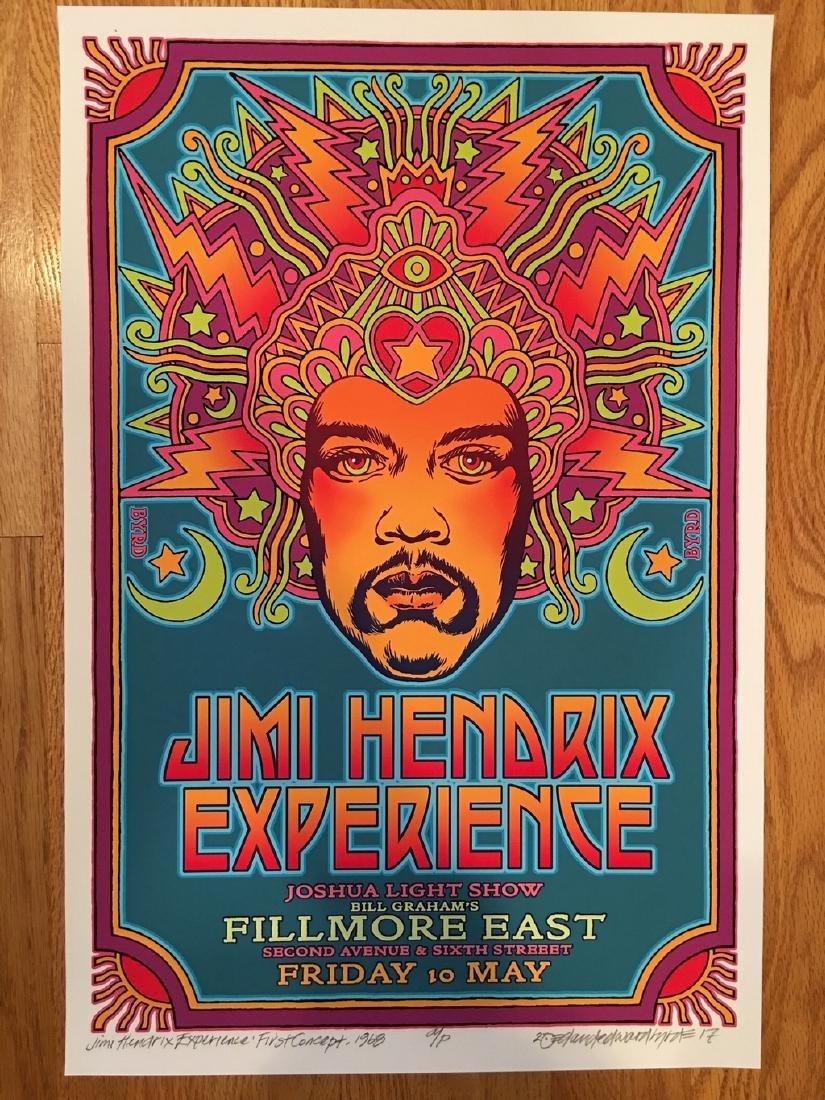 DAVID BYRD - Jimi Hendrix Poster - Signed Artists Proof