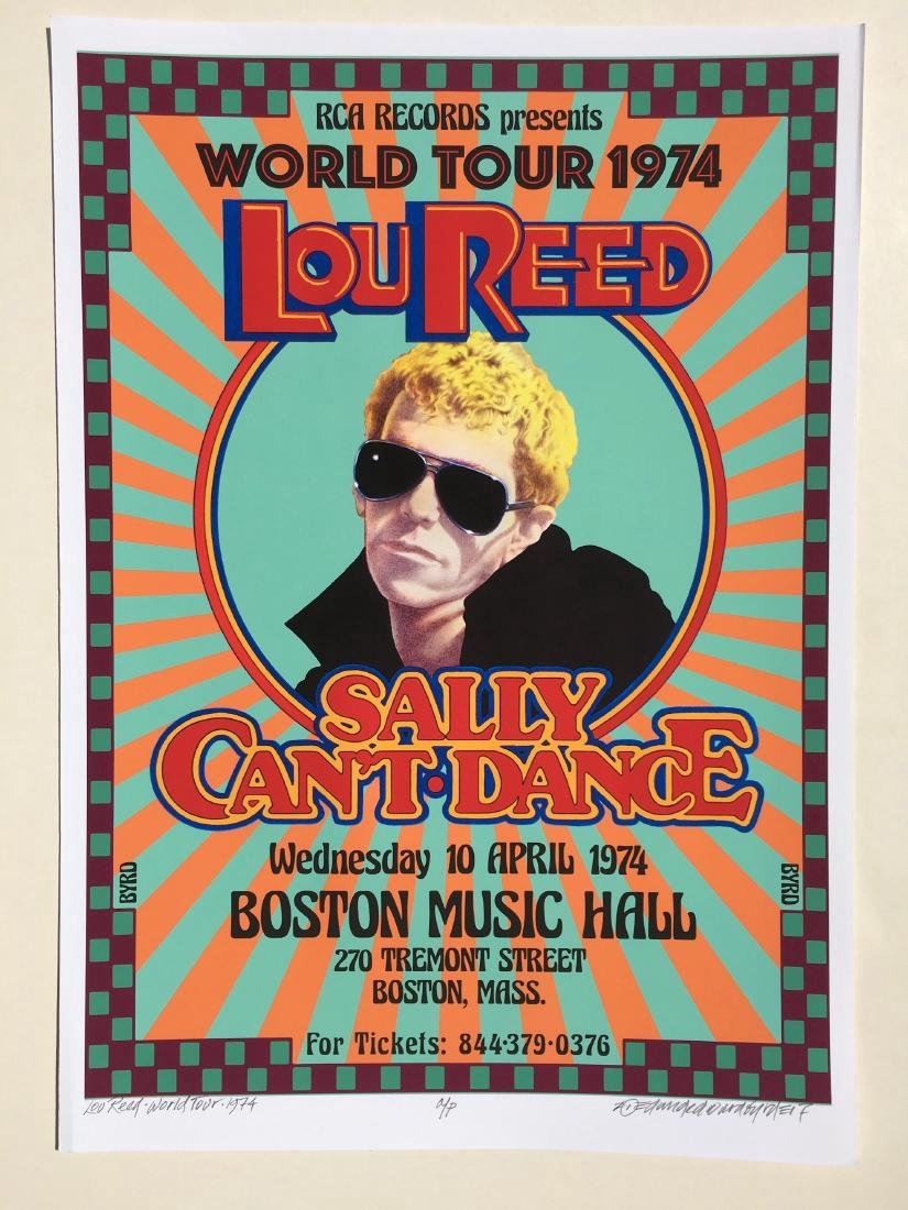 DAVID BYRD - Lou Reed Sally Can't Dance Poster