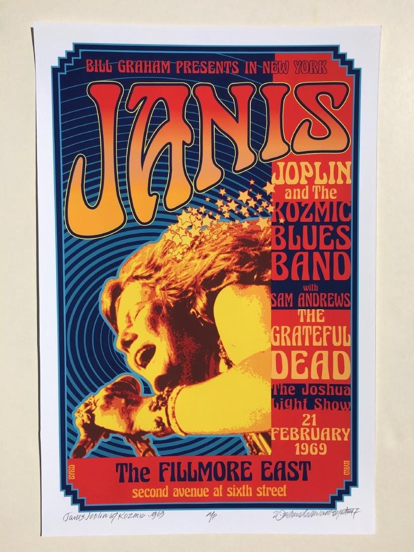 DAVID BYRD - Janis Joplin & the Kozmic Blues Poster