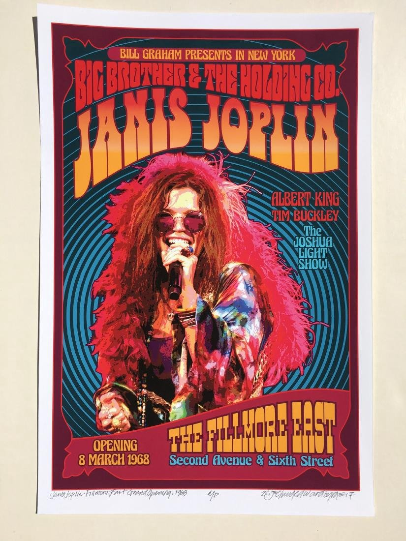 DAVID BYRD - Janis Joplin, Big Brother - Signed Poster