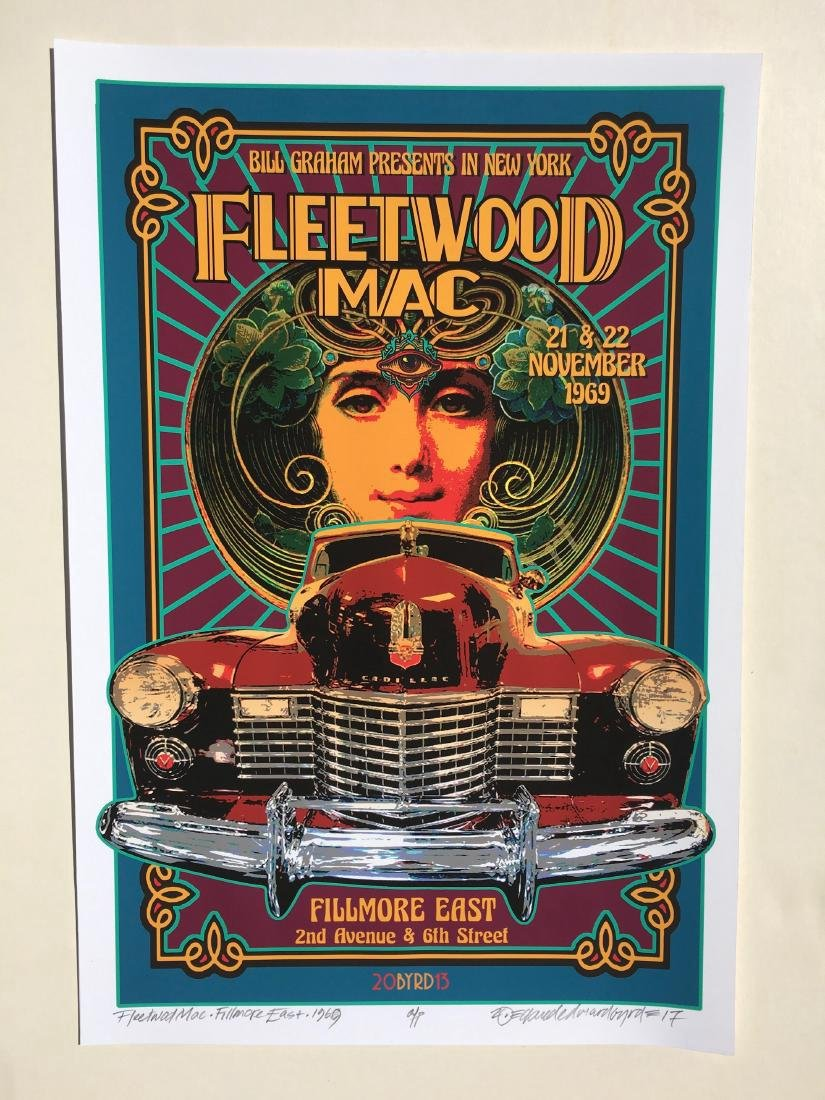 DAVID BYRD - Fleetwood Mac Poster - Signed Proof