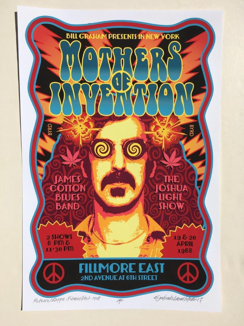 DAVID BYRD - Frank Zappa & the Mothers Poster