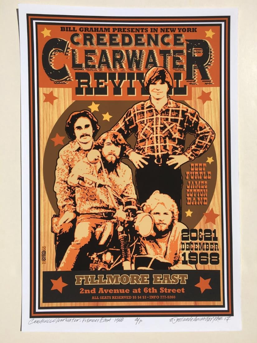 DAVID BYRD - Creedence Clearwater Revival Poster