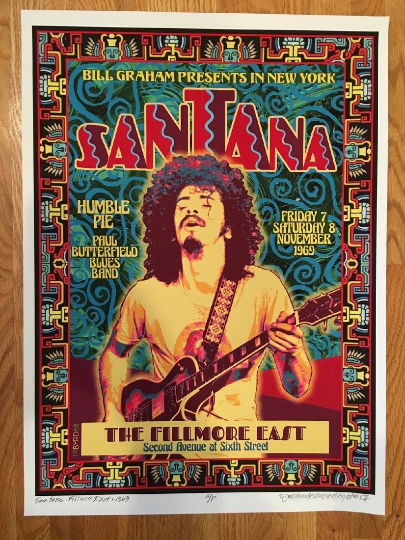 DAVID BYRD - Santana Poster - Signed Artists Proof
