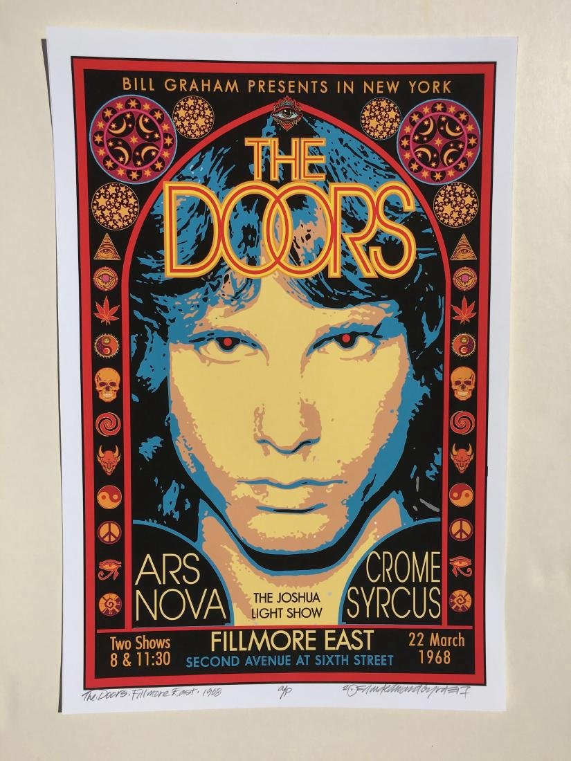 DAVID BYRD - The Doors Poster - Signed Artists Proof