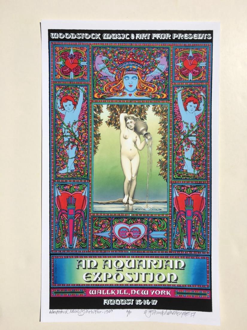 DAVID BYRD - Woodstock Poster - An Aquarian Exposition