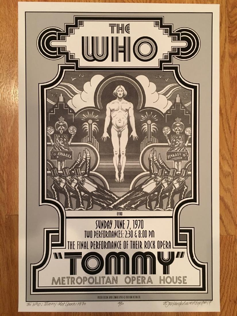 DAVID BYRD - The Who Poster - Signed Artists Proof